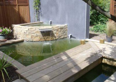 Bassin et jeux d'eau