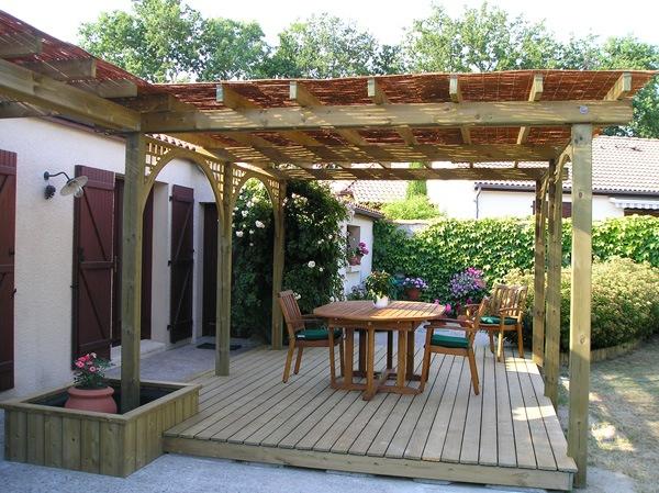 jardins de r ve paysagiste vertou pergola et toile d 39 ombrage. Black Bedroom Furniture Sets. Home Design Ideas