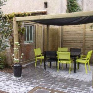 Terrasse patio après